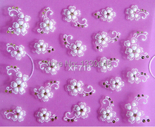 Best DIY Nail Beauty Materials 3D White Flower Nail Sticker art decorations manicure adesivo de unha unhas nail tools XF718