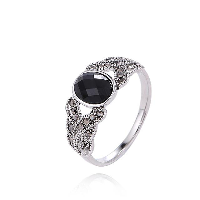 Винтажное кольцо с серебрянным покрытием