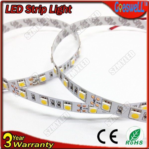 led strip 5050 smd 12V LED flexible Neon light 60 LEDs /m RGB,White,White warm,Blue,Green,Red,Yellow,1M/Lot,Free Shipping(China (Mainland))
