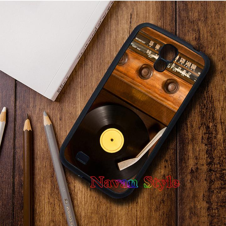Old School Vintage Record Player Vinyl Radio original cell phone case cover for Samsung Galaxy s3 s4 s5 note2 note3 s6 #13009(China (Mainland))