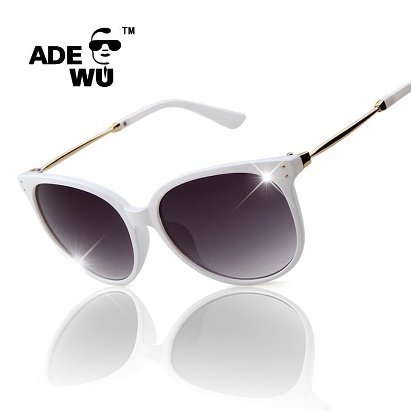 Sunglasses Woman Famous Brand Designer White Glasses Frame Fashion Elegant Point Cat Eyes Hipster Eyewear occhiali da sole donna(China (Mainland))