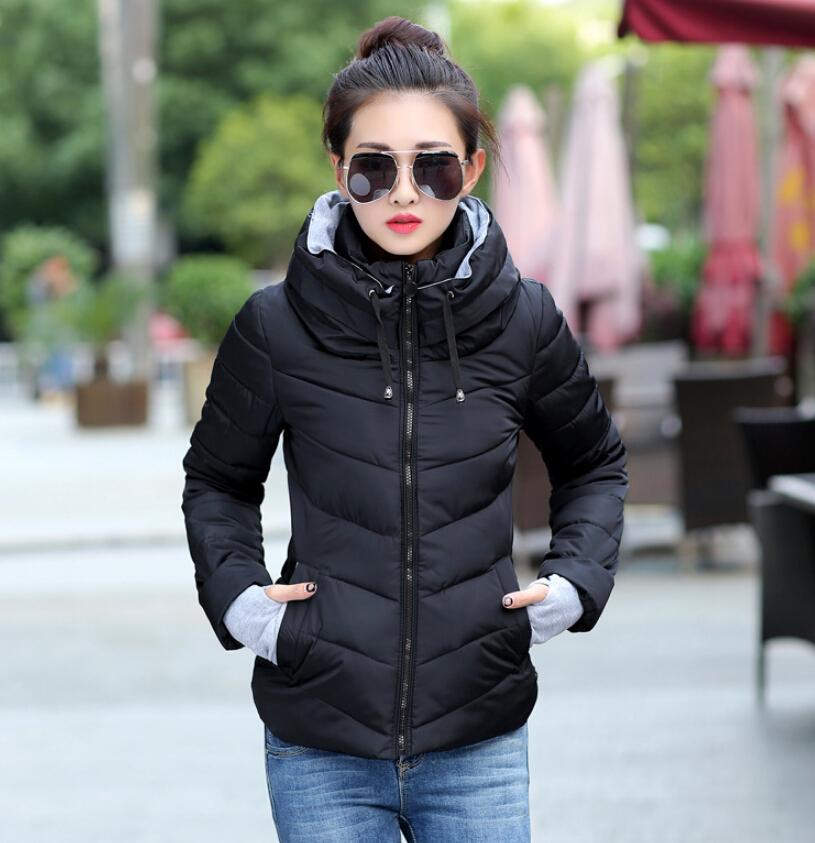 plus size 2015 Korean long sleeve warm light down padded winter jacket women parkas for women winter coat women B143