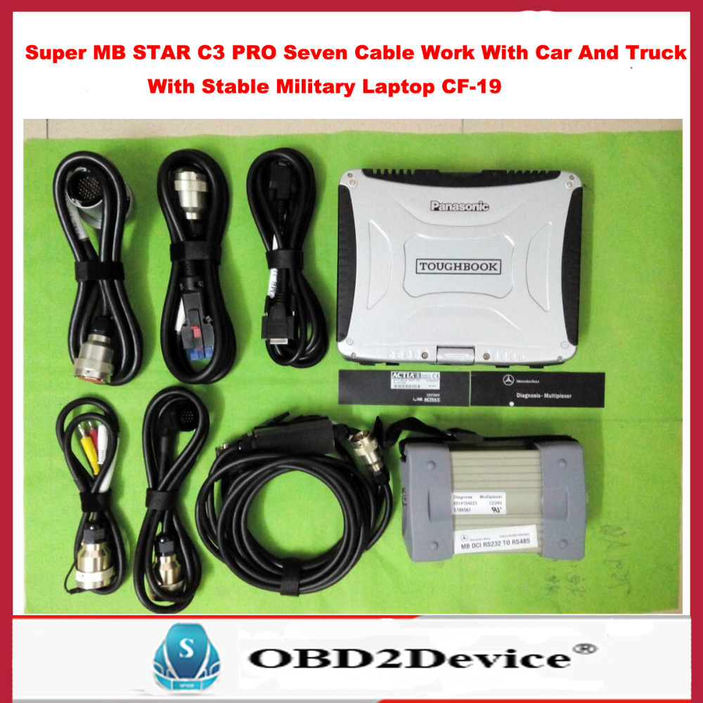 Best Quality Mb Star c3 Multiplexer Perfect Work For Benz Car Truck +Panasnic CF19 Military Laptop Free Gift Automoblie Adapter(China (Mainland))