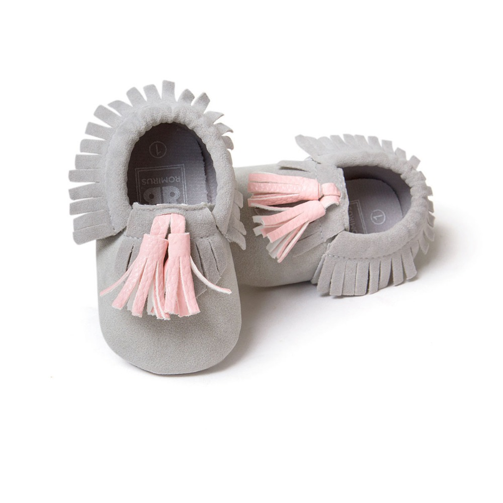 2016 New Style Fringe Suede PU Leather Baby Kid Children Soft Soled Anti-Slip First Walkes Shoes Baby Moccasins Soft Moccs Shoes(China (Mainland))