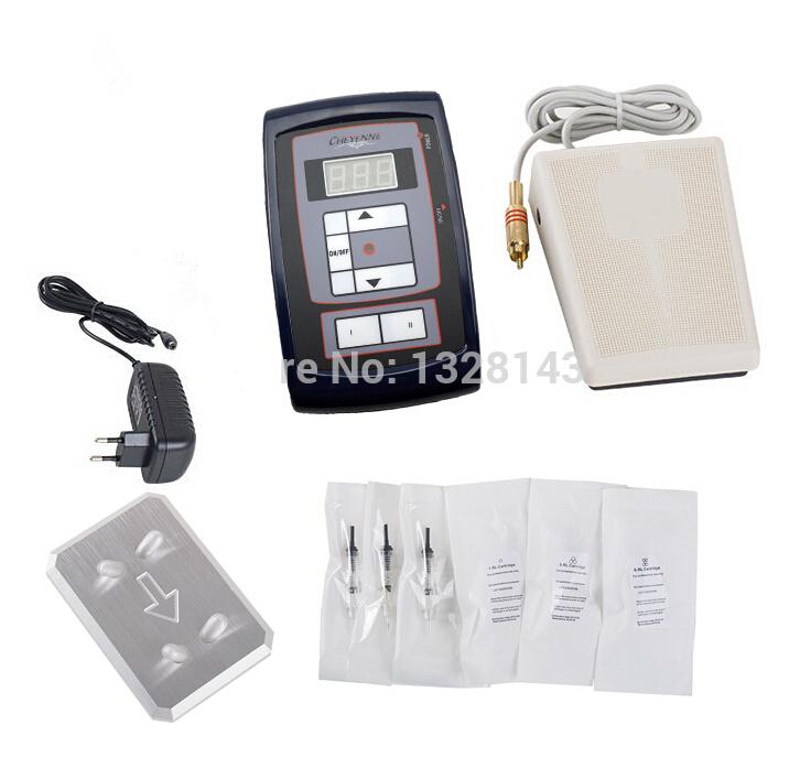 Здесь можно купить  Wholesale  Professional Permanent Eyebrow Makeup Machine Rotary  Machine Kit with Pedal + 30PcsNeedles LCD Power Supply  Красота и здоровье