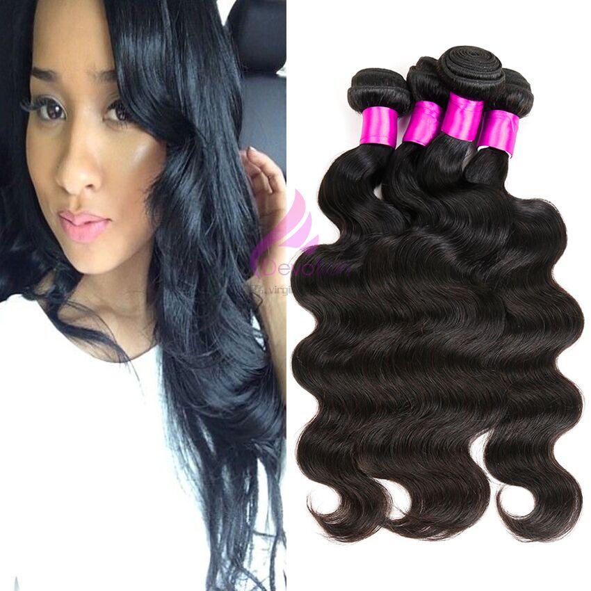Malaysian virgin hair body wave 4pcs lot unprocessed human hair weaves cheap malaysian body wave #1b malaysian hair body wavy<br><br>Aliexpress