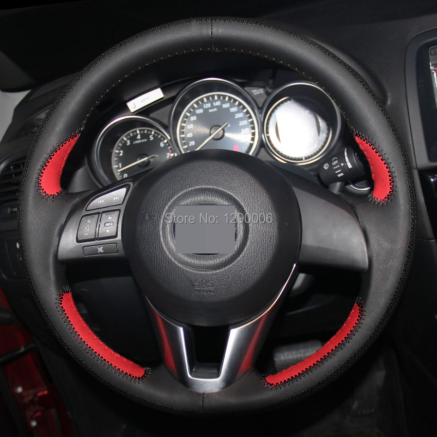 Popular Red Leather Steering Wheel Cover Buy Cheap Red