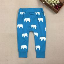 #20# 2016 New Baby Girls Boys Long Harem Pants Kids Autumn Cute Fish Elephant Cotton Pants Children Trousers(China (Mainland))