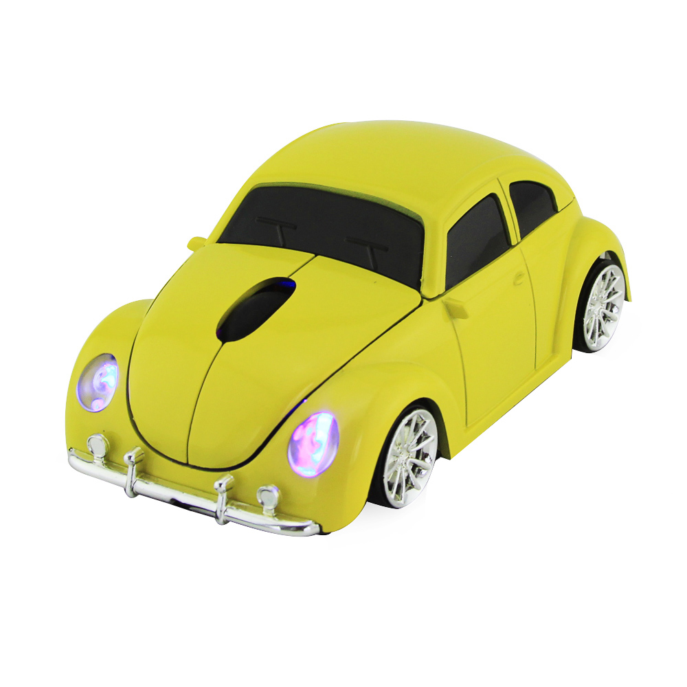 Xmas Gift 3D USB Optical Wireless Mouse Car VW Beetle Shape Cord Mause Mice Bug Beatles Car Gaming Mouse for PC Laptop & Desktop(China (Mainland))