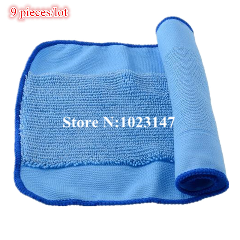 9 pieces/lot Microfiber Mopping Cloths Replacement for iRobot Braava 380 380t 320 Mint 4200 4205 5200 5200C Robot(China (Mainland))