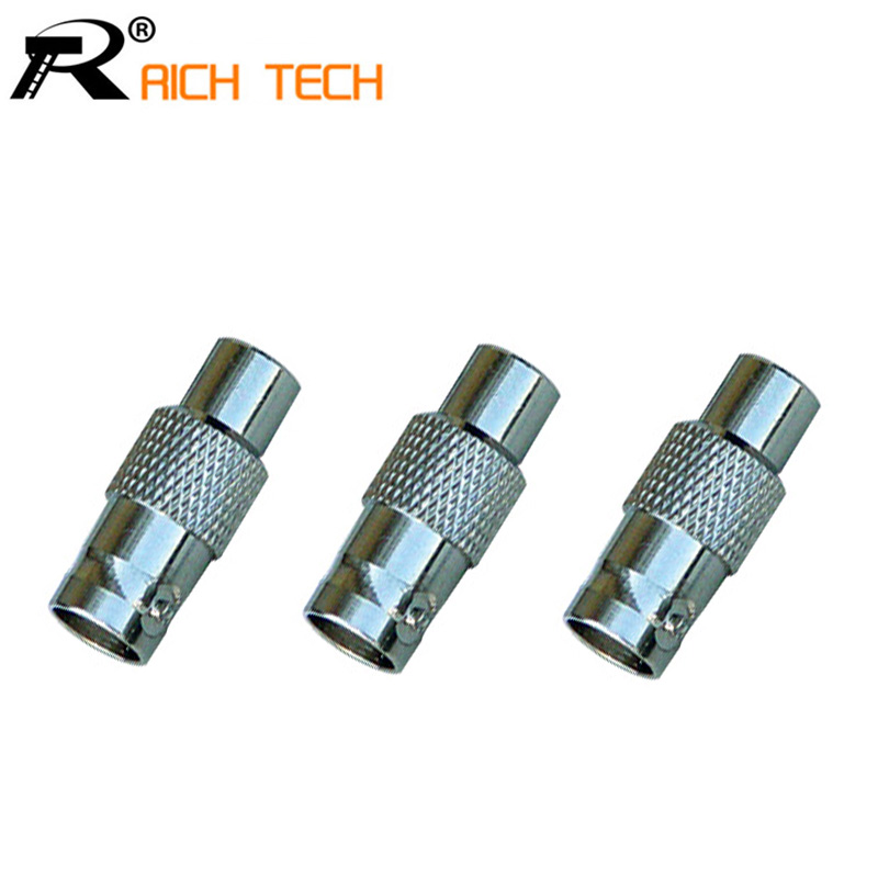 wholesale CCTV Surveillance accessories RCA Female to BNC Female Connector RCA BNC Connector for audio video Camera 3pcs/lot(China (Mainland))