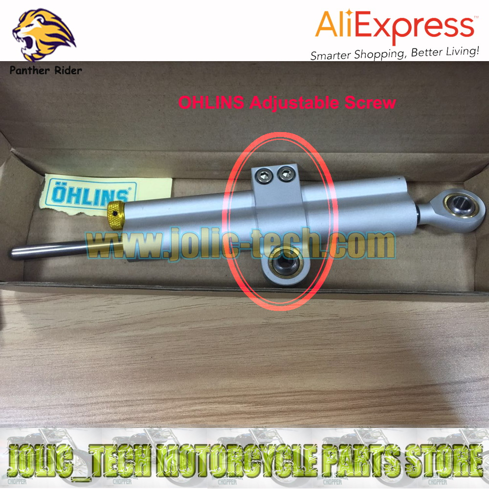One Piece CNC Aluminum Adjustable Screw Part For Ohlins Motorcycle Steering Damper Free Shipping(China (Mainland))