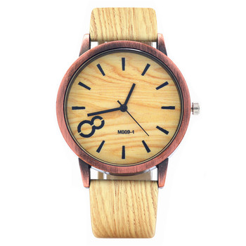 Wood Grain Watches Men and Women Fashion Leather Wristwatch Vintage watches Quartz Watch Personality Casual Relogio