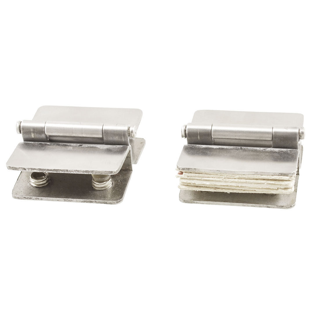 Hardware Glass to Glass Door Double Clamp Shower Hinges 2 Pcs LXM(China (Mainland))