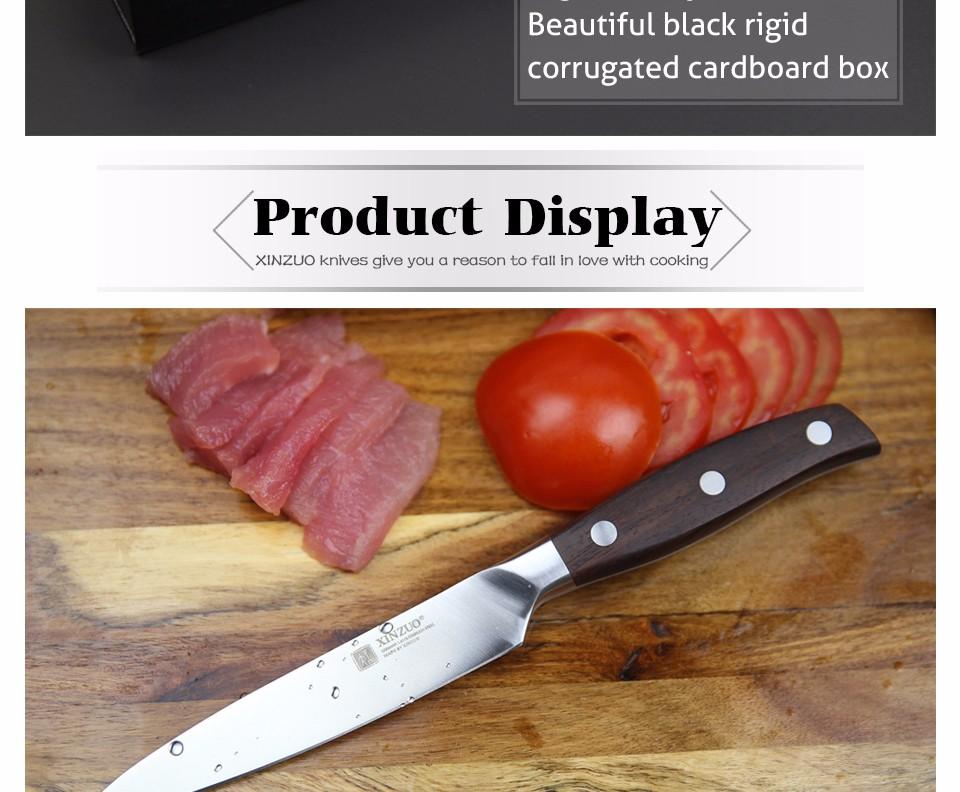 Buy XINZUO kitchen tools 3 PCs kitchen knife set utility Chef satoku knife german 1.4116 stainless steel super sharp free shipping cheap