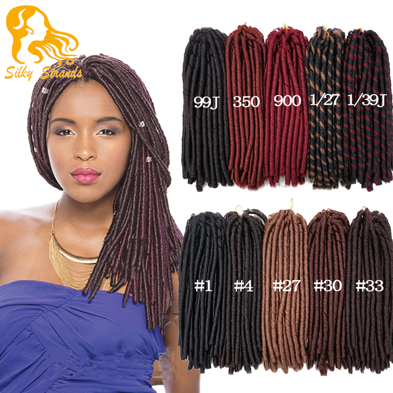 Crochet Braids Hair 14'' 70g Afro Burgundy Synthetic Dread Locs ...