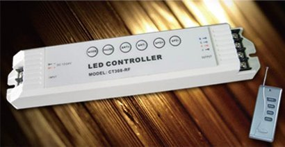 special offer of 5pcs LED RGB controller,DC12-24V input,with RF controller,max 5A each channel, 0-100% brightness adjustment;