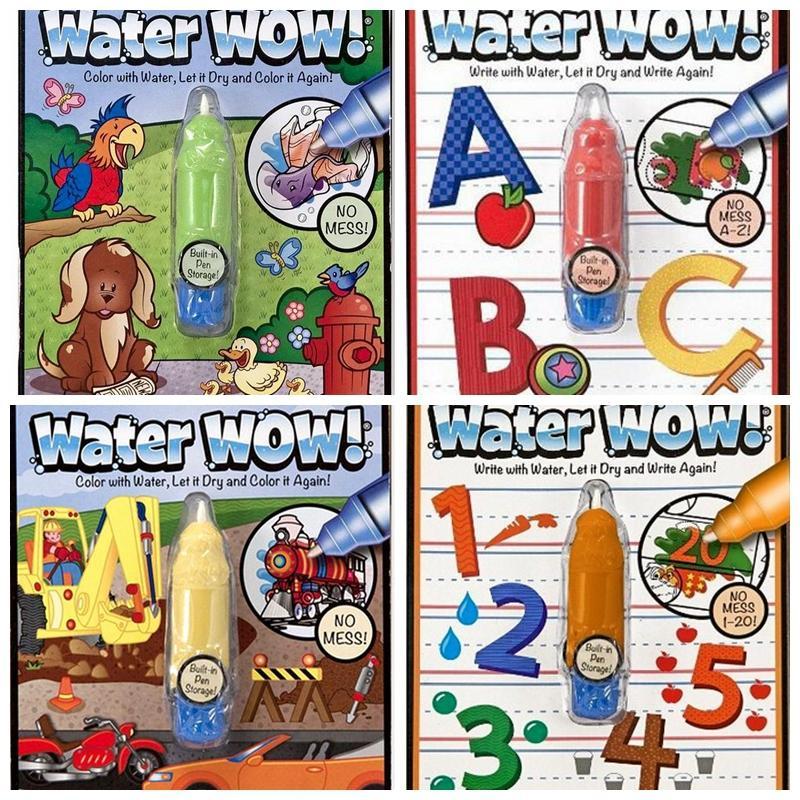 bohs reusable pen aqua coloring book doodle arts drawing writing on the go water wow bundle - Coloration Rutilisable
