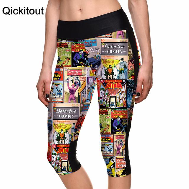 Новый 2015 сексуальных женщин 7 точка брюки женские леггинсы комиксы плакаты цифровой ...