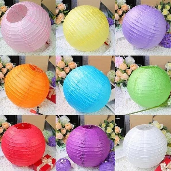 Mulit color option 8 inch 20cm Round Chinese Paper Lantern for Birthday Wedding Party Decor gift craft DIY party decorate(China (Mainland))