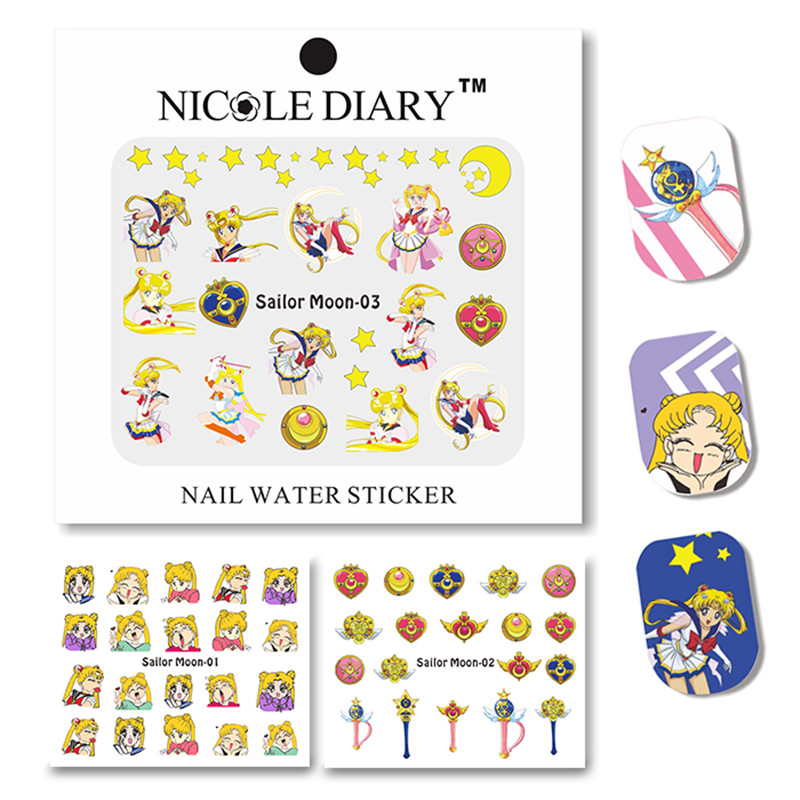 NICOLE DIARY Nail Art Water Decals Transfer Stickers Design Tips Decoration Tattoo SM 01-03  -  Sara's Salon Store store