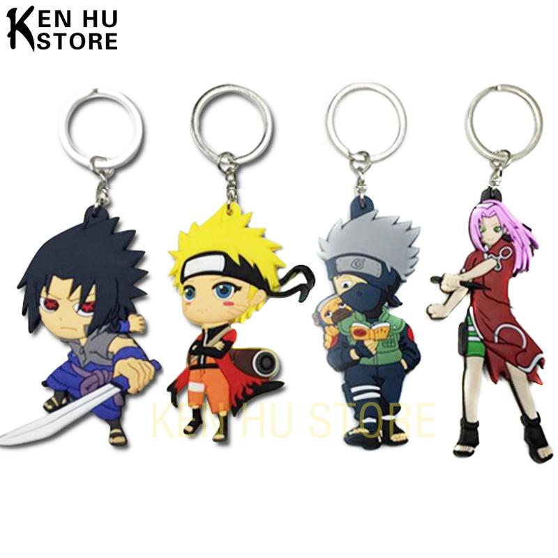 Buy 2 get 1 free Naruto anime cartoon figures Kakashi Sasuke action & toy figures pendant Key Chains Collection model toy(China (Mainland))