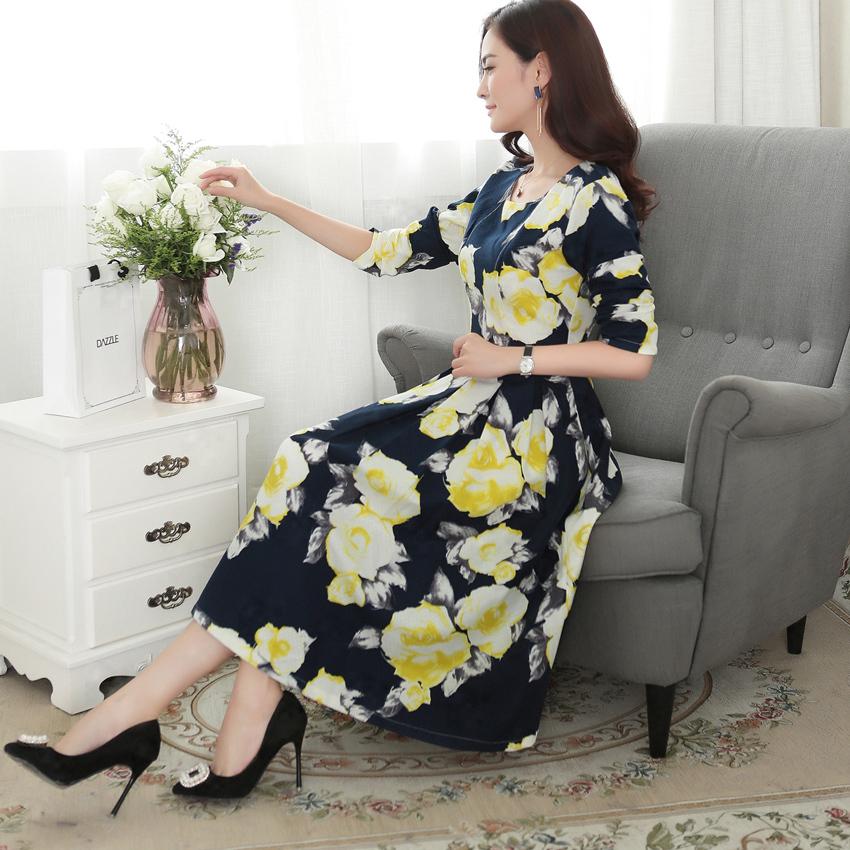 2015 New Spring Runway Fashion Designer Dress Womens Long Sleeve O-Neck Collar Vintage Ethnic Figure Printed Maxi Boho DressОдежда и ак�е��уары<br><br><br>Aliexpress