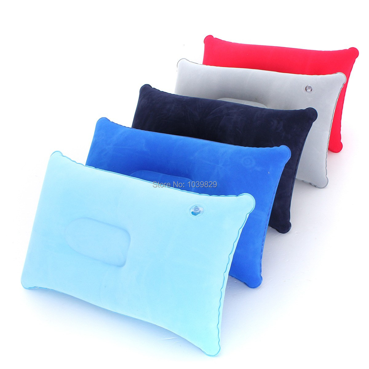 Wholesale Outdoor Camping Portable Folding Air Inflatable Pillow Double Sided Flocking Cushion For Travel Plane Hotel Pillows(China (Mainland))