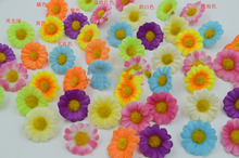 artificial flowers DIY manual simulation flowers silk sunflower Daisy Gerbera daisy fake flower cloth flower head 3cm wholesale(China (Mainland))