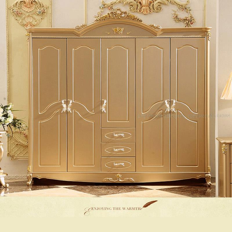Continental five wardrobe new champagne gold storage