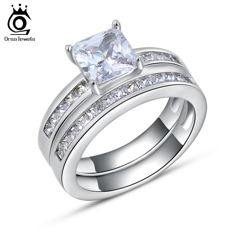 aliexpress buy luxury square cz ring 925 sterling