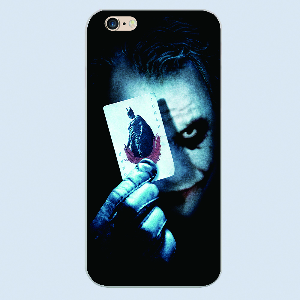 NEW Phone Cases image Painted Cover Joker Mobile Phone Bags & Case for Iphone 4 5 6 6S Plus Unbreakable Protection shell(China (Mainland))
