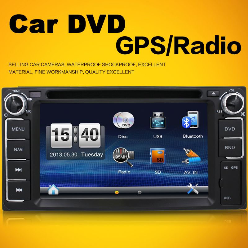 toyota/avensis/prado Car Electronic auto Double 2 din car dvd player IN-DASH GPS Radio Tuner PC Video Monitors for Blutooth(China (Mainland))