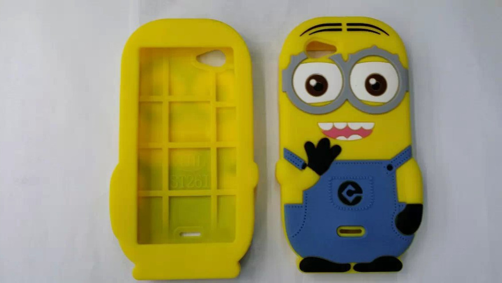Sony Xperia J ST26I 3D Despicable 2 Yellow Cute Protective Soft Silicone Rubber Back Phone Cases Cover - Fashion Store( store)
