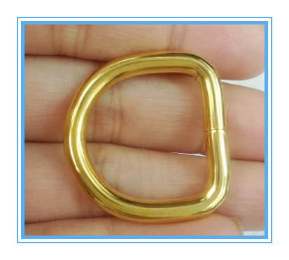 """(Free shipping)50 pcs of 1.5"""" (38mm) Unwelded Metal D Ring gold Color for webbing/strap wholesaler free shipping(China (Mainland))"""