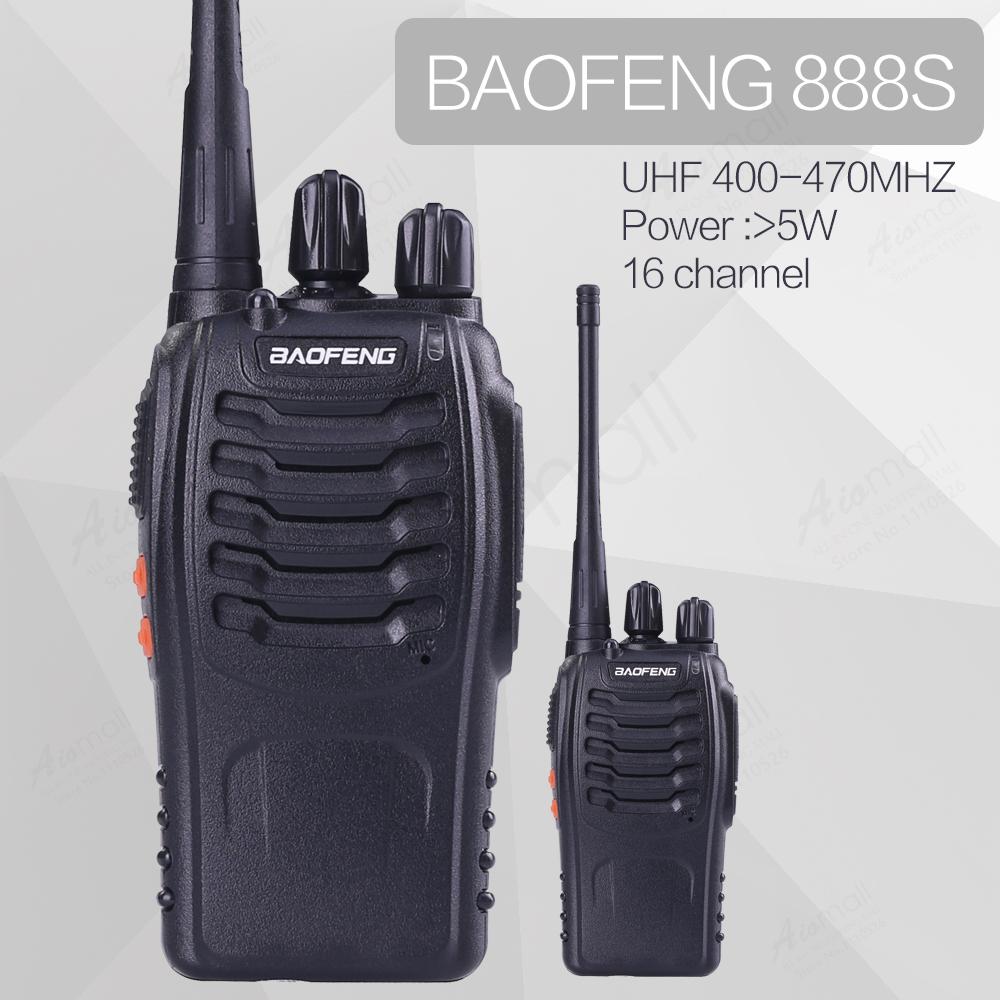 2pcs/lot BAOFENG BF-888S UHF FM Transceiver High Illumination Flashlight Walkie Talkie Two Way Radio With Earpiece(China (Mainland))