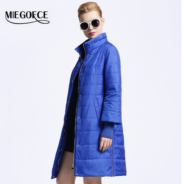 MIEGOFCE 2016 New spring jacket women winter coat womens clothing Medium-Long Cotton Padded slim warm Jacket coat High Quality