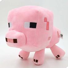 Popular 16-26cm 2016 Minecraft Plush Toys Enderman Ocelot Pig Sheep Bat Mooshroom Squid Spider Wolf Animal Stuffed Kids Toys(China (Mainland))