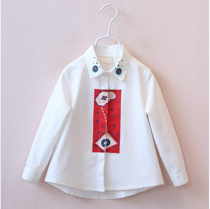 30708536 Wholesale 2015 Spring Fashion Baby Girls Blouses Print Full Sleeve Girl Tops Sashes Kids Shirts Lolita Supplier lots<br><br>Aliexpress