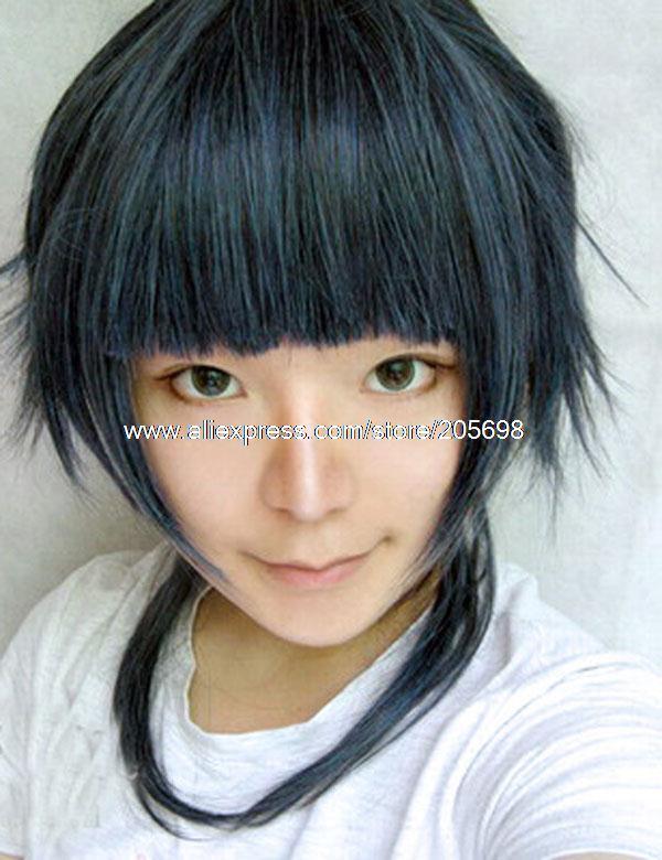 Гаджет  Starrysky Peacock Blue Short Wig anime halloween christmas Free Shipping None Изготовление под заказ