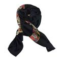 New Women Silk Scarf 69 175cm Kerchief Shawl Occident Style Black 100 Silk High Quality Hot