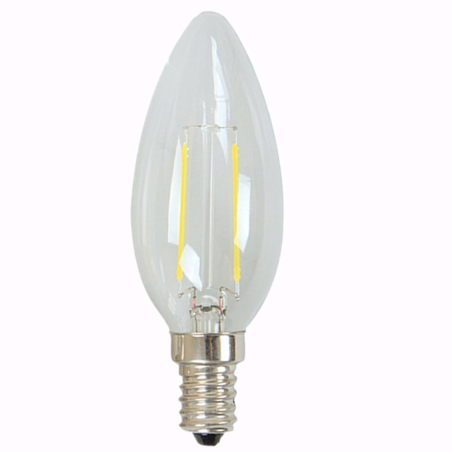 LED Filament Bulb Energy Save E14 E27 2W 4W Warm Cool natural white Light indoor indoor 220V 230V glass Chandelier new 2016<br><br>Aliexpress