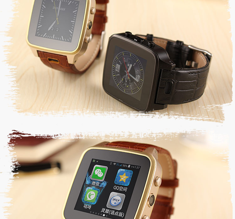 Smart Watch Dual Core 2G 3G Leather Watchstrap Android Smartwatch Touch Waterproof Camera WIFI Bluetooth Smart Wristwatch SZ9(China (Mainland))