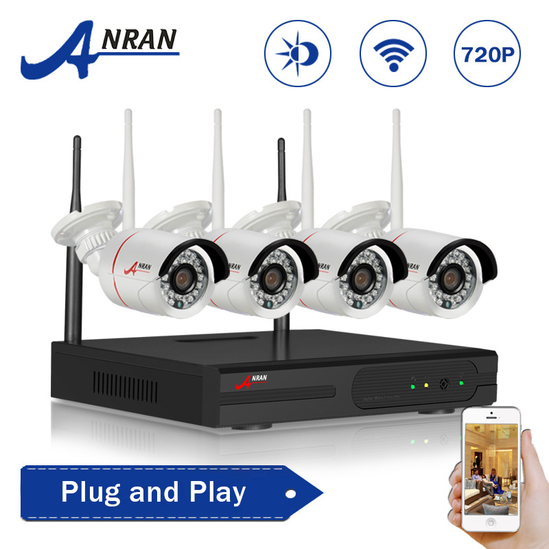 ANRAN Plug and Play HD 4CH NVR 720P Wireless CCTV System 1TB HDD Outdoor Night Vision Security Camera WIFI Surveillance Kit(China (Mainland))