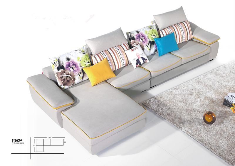 living room round shape sofa royal curved sofa fabric sofa(China (Mainland))