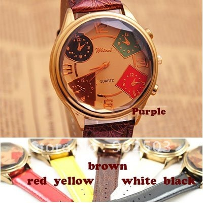 Big dial fashion watch,Multi-Edge-Angle glass surface,many colors bands can be chosen