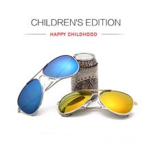 Kids Polarized Sunglasses 2016 Summer Protect Children Eyewear Boys/Girls Pilot Baby Sun Glasses 100%UV HD Lens