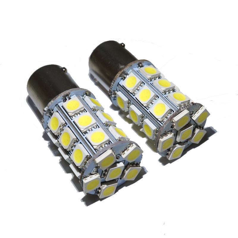 10pcs/lot 1156 ba15s bau15s 1157 bay15d bulb led light 27 smd 5050 P21W Brake Tail Turn Signal Light Bulb Lamp 12V white(China (Mainland))