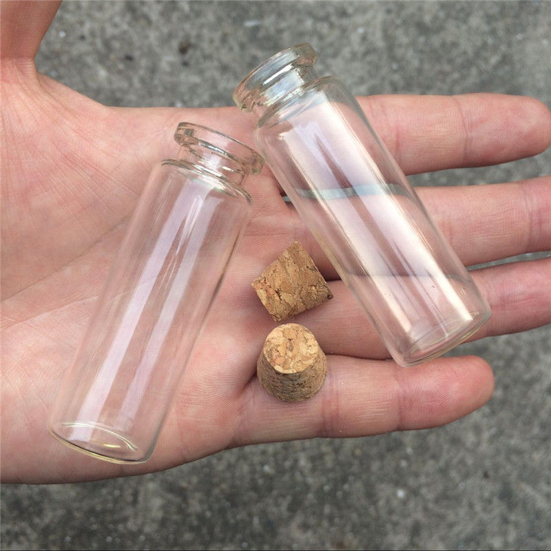 15ml Empty Cosmetic Containers Small Glass Crafts Bottles With Corks Mini Perfumes Bottle