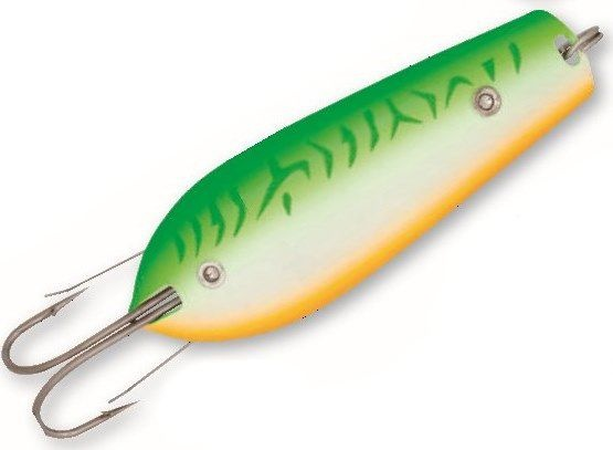 Crazy Fish - Fishing Casting/Trolling Weedless Spoon Metal Baits Pike Bass Lure 75mm/20g store